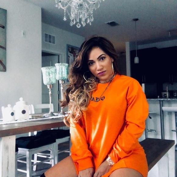 27bccf151c Fashion Nova Dresses   Skirts - Pablo orange sweater dress